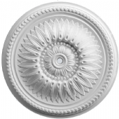 Beaded Floral Plaster Ceiling Rose 450mm